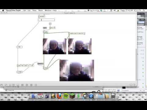 Max MSP, Lilypad And Webcam Fun