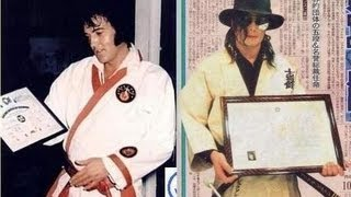 Elvis Presley & Michael Jackson  - Karate エルビスとマイケル 空手