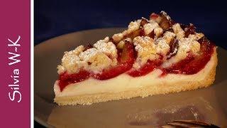 Zwetschgenkuchen / Pflaumenkuchen / mit Pudding und Streusel