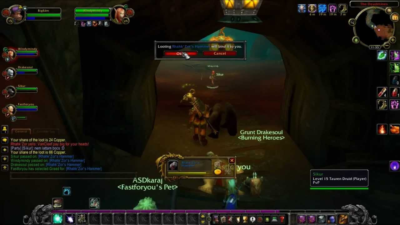 Let 39 s play tauri wow server 5 r sz deadmines szakma for Wow portent 5 4