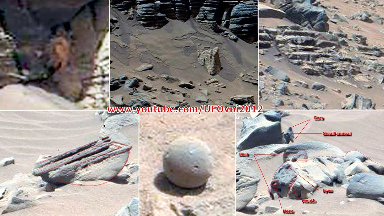 Ancient Aliens On Mars: Anomaly, Statue, Tiles, Water, Flower, Stairs