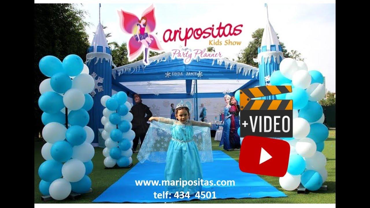 Decoracion de frozen fiesta infantil lima youtube - Decoracion fiesta infantil ...