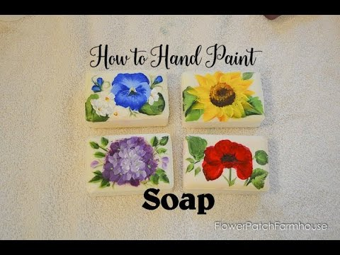 Paint Flowers on Soap Bars