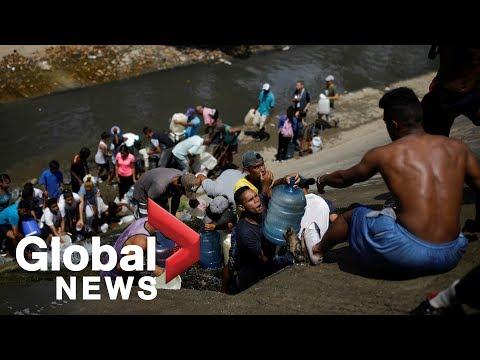 Venezuela blackout: Dozens head to sewage drains in desperate search for water