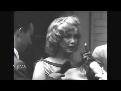 """Marilyn Monroe at press conference in support of her husband Arthur Miller -  """"contempt of congress"""""""