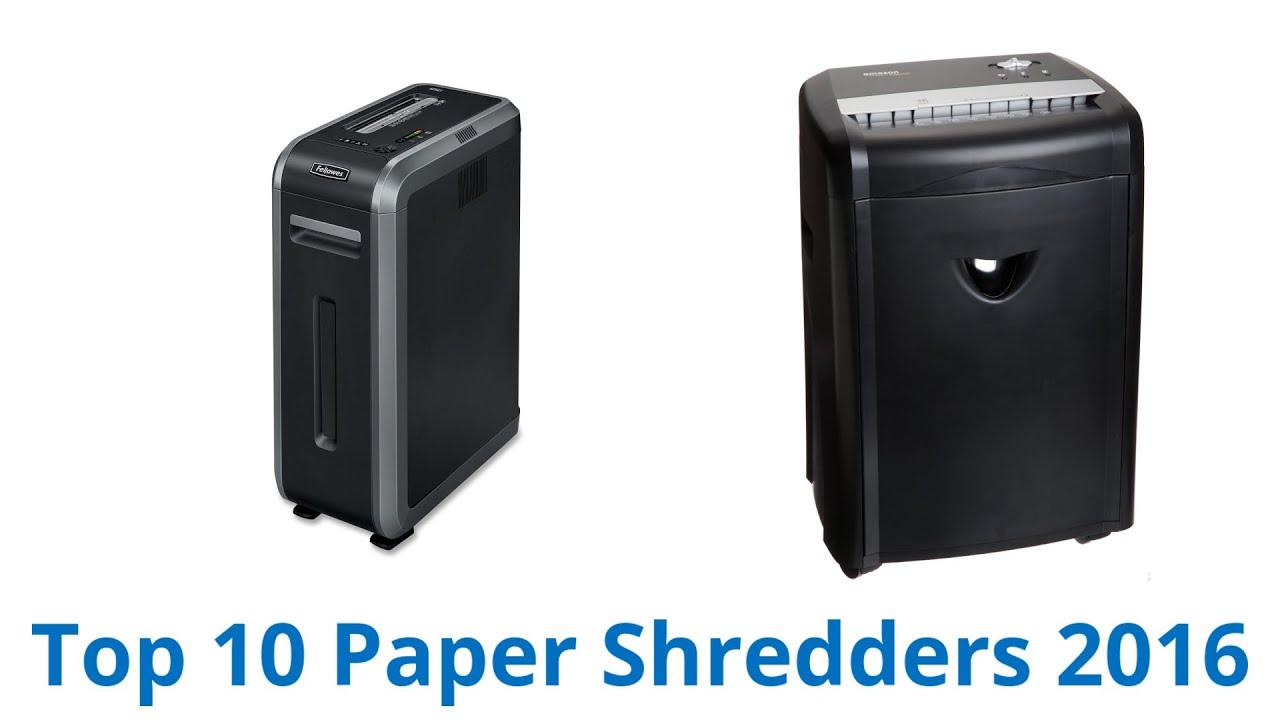 10 Best Paper Shredders 2016 - YouTube