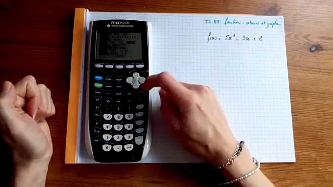 Ti83 Representation Graphique De Fonctions Tableau De Valeurs Youtube