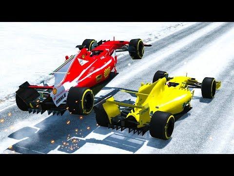 F1 Racing Crashes #1 (+Take Offs) - BeamNG drive