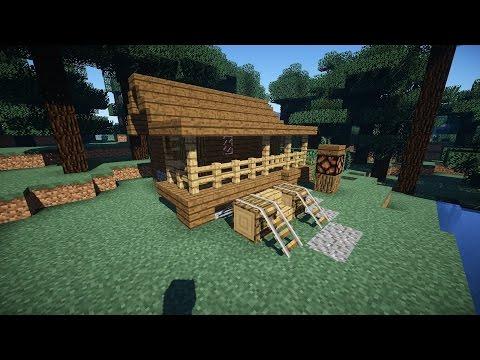 майнкрафт как построить дом в лесу #10