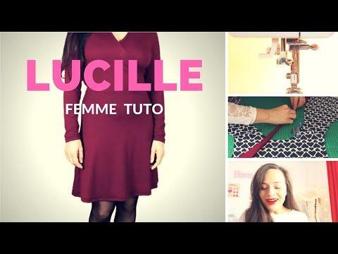 Sewalong Lucille 👗  osez coudre le jersey 💛 machine à coudre