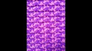 Узор крючком. Чередуем цветные нитки при вязании. Видео урок крючком для начинающих и не только