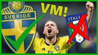 Italien VS Sverige 0-0 | Sverige klara för VM!!!
