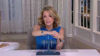 Vicenza Silver Sterling Crystal Adjustable Tennis Bracelet on QVC
