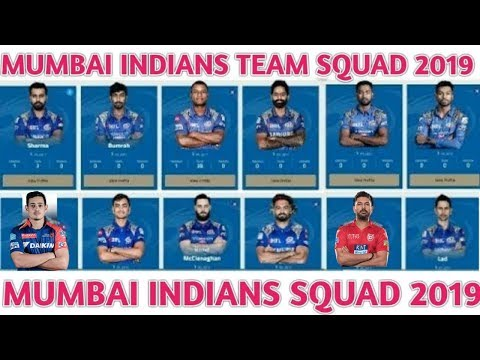 IPL 2019 Mumbai Indians Team Squad | Mumbai Indians Confirm And Final Squad