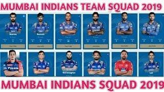 IPL 2019 Mumbai Indians Team Squad   Mumbai Indians Confirm And Final Squad