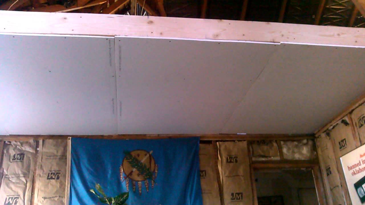 New Sheetrock Vault Ceiling