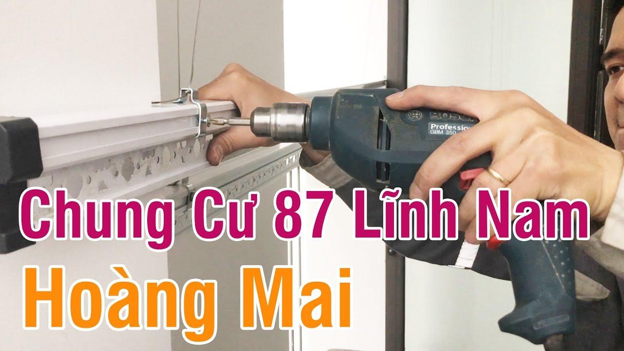 Lắp giàn phơi thông minh tại Chung cư New Horizon City 87 Lĩnh Nam – Hoàng Mai
