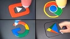 Google Pancake Art - youtube, Google, Chrome, play store
