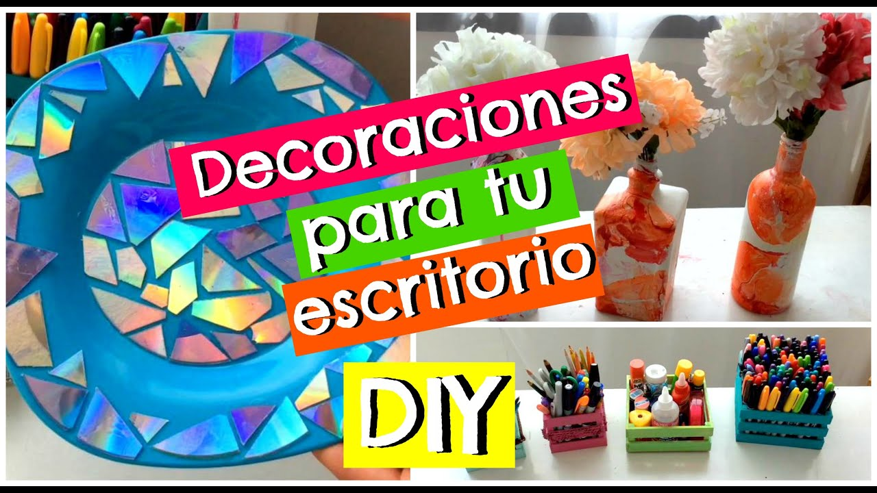Decora tu escritorio de trabajo diy youtube for Como decorar mi oficina de trabajo