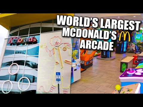 Playing Games At The World's Largest Mcdonald's ARCADE!
