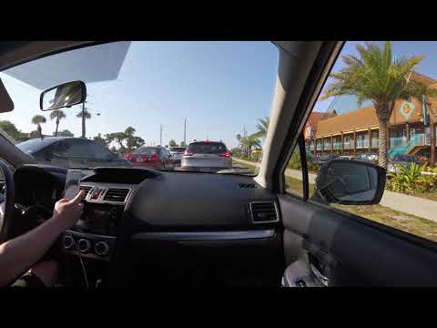 Driving on A1A from South Cocoa Beach to Cape Canaveral Florida