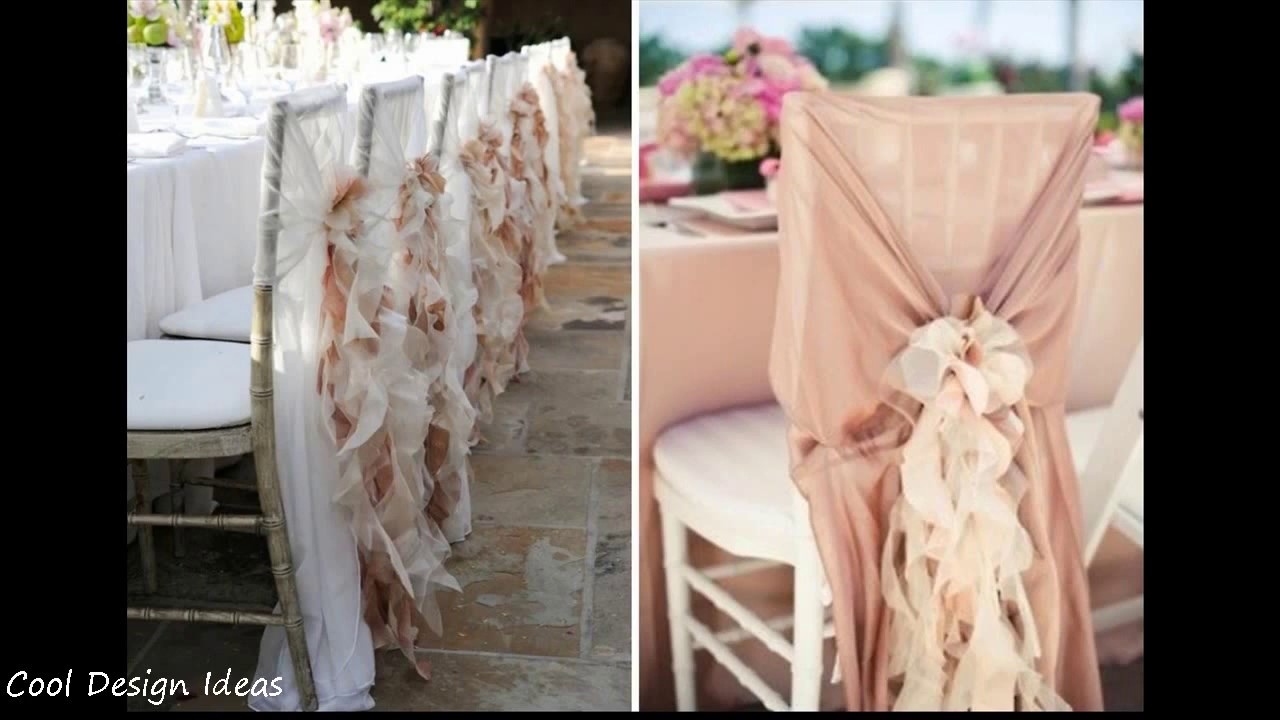 decorating chairs for wedding diy simple wedding chair decorations 3363