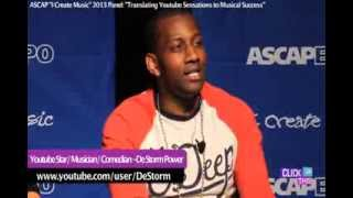 "ASCAP ""I Create Music"" EXPO (2013) Full Destorm Power Interview plus we bring him Skittles!!"