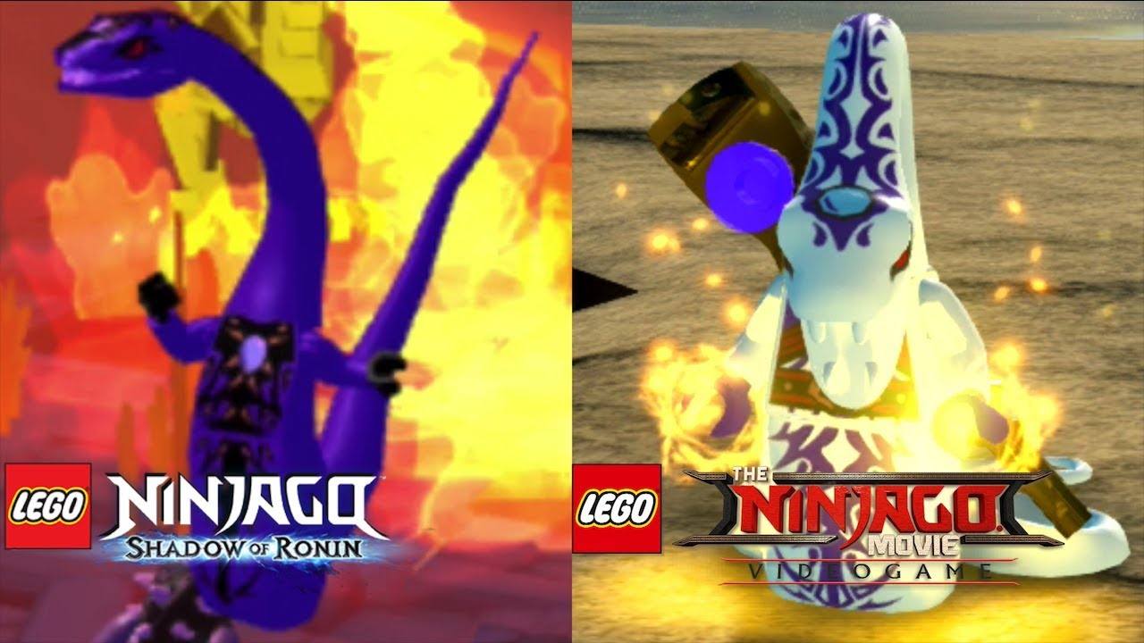 The Lego Ninjago Movie Video Game Vs Lego Ninjago Shadow Of Ronin