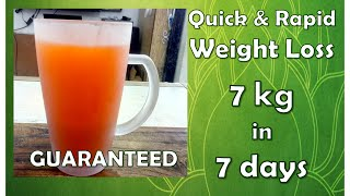 Quickly LOSE 7kgs in 7 days - GUARANTEED | Lose Weight Fast | No Diet-No Exercise: Maharishi Agastya