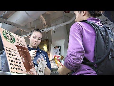 Starbucks On Aircraft Carrier – USS George H.W. Bush's Coffee Shop