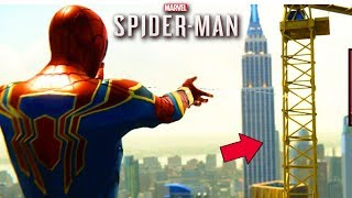 A QUEDA do GUINDASTE GIGANTE!!! - (SPIDER-MAN PS4)