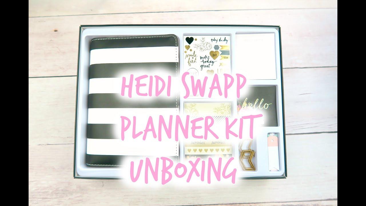 New Heidi Swapp Planner Kit Unboxing