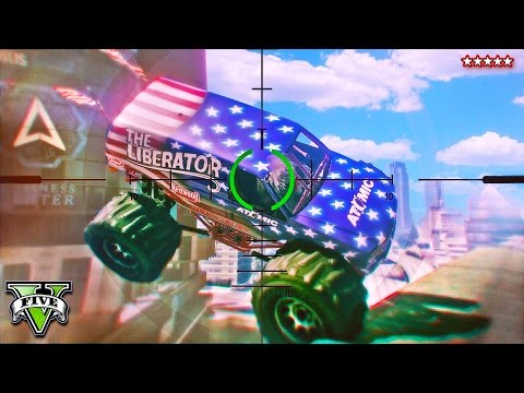 GTA 5 MONSTER TRUCKS vs SNIPERS - Liberator Showdown with The Sniping King!! (GTA 5 Funny Moments)
