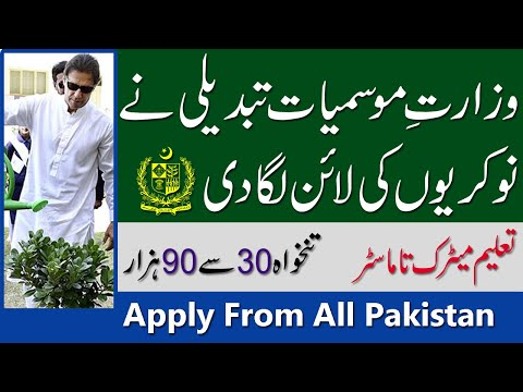 New Jobs In Ministry Of Climate Change OTS- Cleam And Green Pakistan