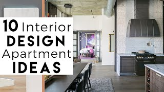 Apartment Design  | Top 10 Interior Design Ideas