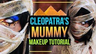 CLEOPATRA'S MUMMY - MUMIE Halloween Makeup Tutorial / Kostüm • #spooktober