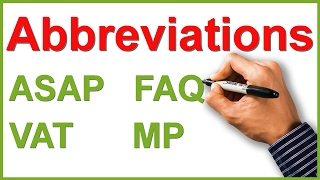 Abbreviations And Acronyms | English Writing Lesson