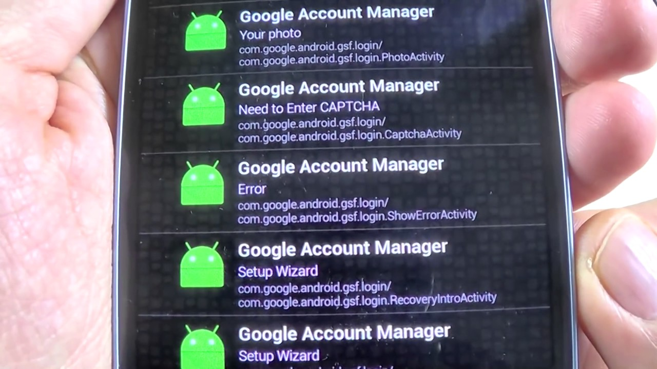 Google Account Manager Erorr Problem Solved Youtube