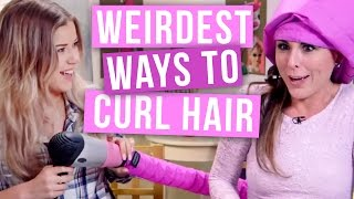 One of Clevver Style's most viewed videos: 4 Weirdest Ways to Curl Your Hair