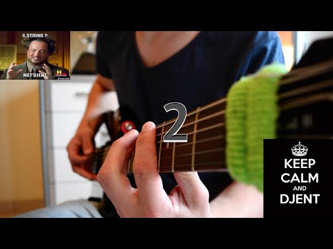 DJENT on a 6 String guitar 2 // Tuning: A, G, C, F, A, D // Song Playthrough