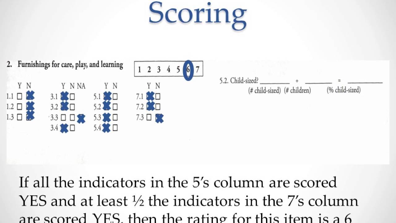 ecers 3 score sheet ECERS 3 Scoring narrated 3 31 - YouTube