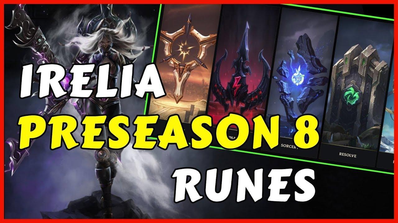 BEST IRELIA RUNES PRESEASON 8 (SO FAR) - YouTube  BEST IRELIA RUN...
