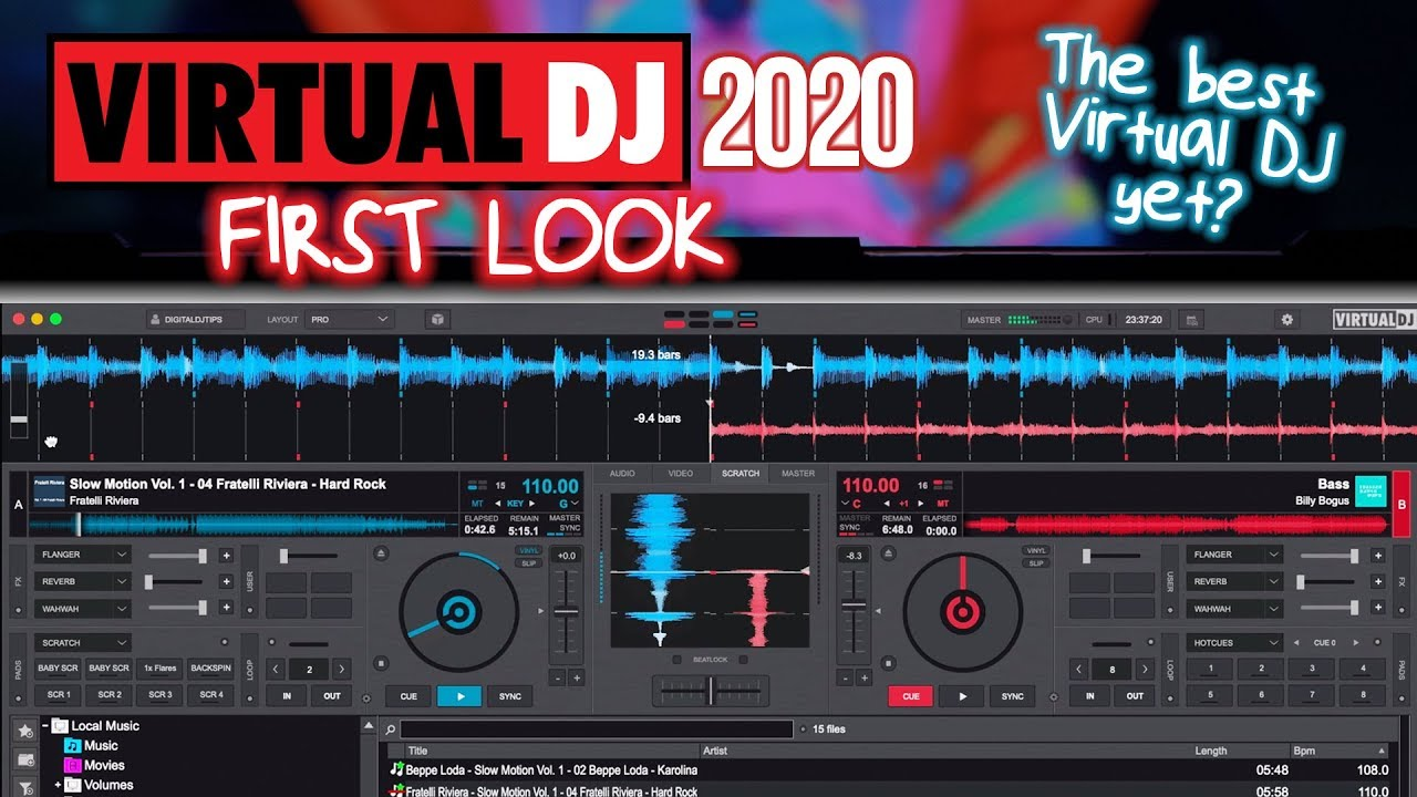Virtual Dj 2020 The Best Virtual Dj Yet First Look Review Youtube