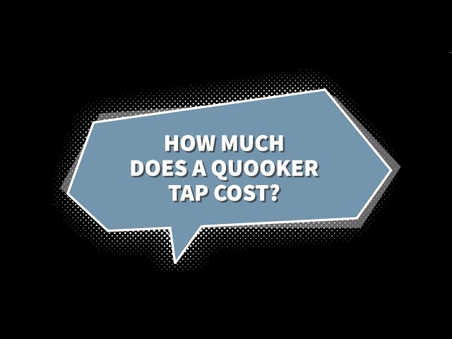 How much does a Quooker tap cost?