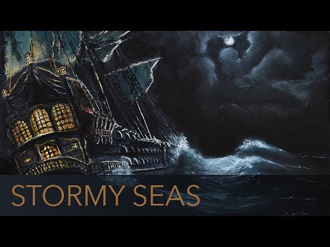 Pirate Ship On Stormy Seas - 1 Hour - 🎧 ASMR - Drift Off to Sleep With the  Ambience of the Ocean