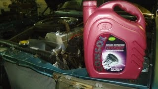 Мерседес 123 ,замена масла в двигателе.