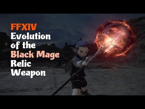 FFXIV Evolution of the Black Mage Relic Weapon [Feat  Ul'dah Night Theme  (Sultana Dreaming)]