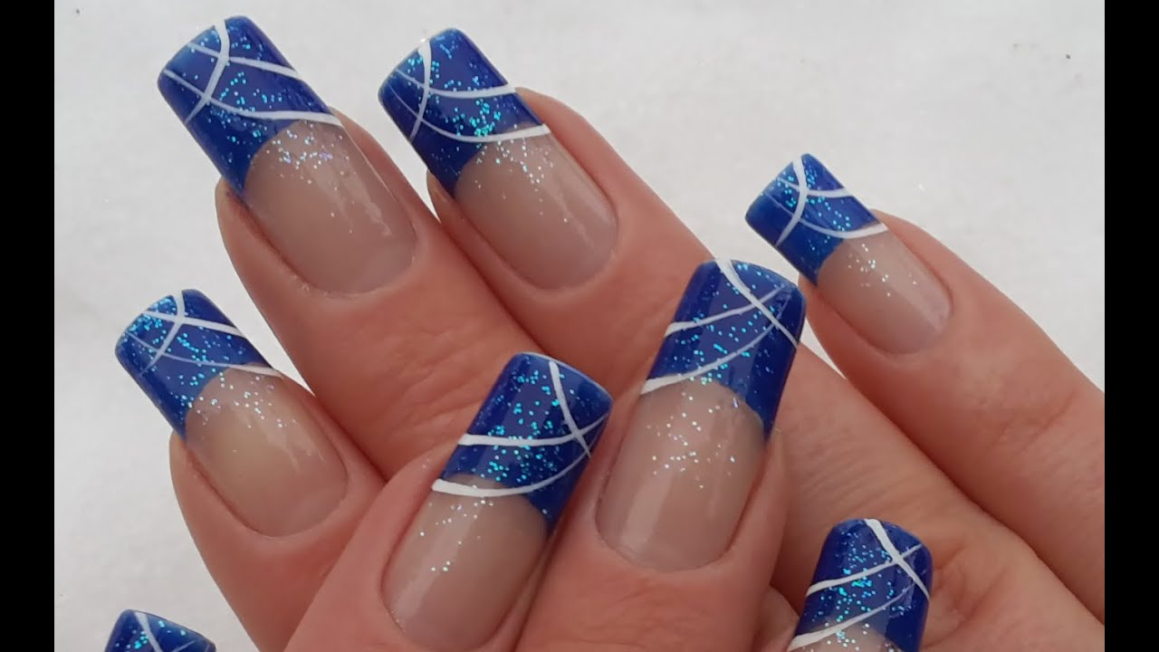 Hochzeitsnagel Glitzer French With White Glitter Nails Nails Nails