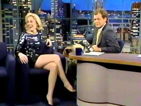 Sharon Stone on Late Night (1992)