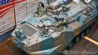 Japan's AAV Recovery & Launch on US Navy Ship in Philippines